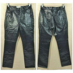 GAP Original Fit Black Leather Pants Womens Size 4